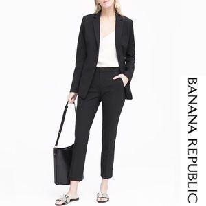 Banana Republic Classic Stretch Wool Black Blazer